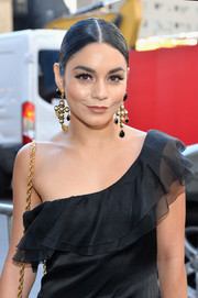 Vanessa Hudgens attended the Broadway opening of 'The Iceman Cometh' wearing an eye-catching pair of pearl chandelier earrings.