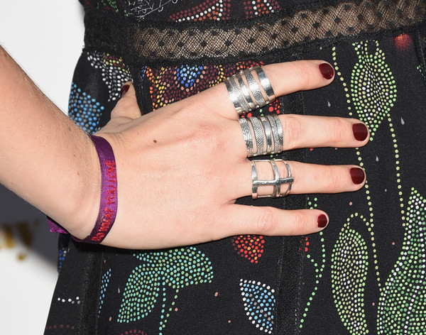 Imogen Poots Red Nail Polish [shes funny that way,nail,finger,hand,wrist,pattern,jewellery,design,fashion accessory,nail care,polka dot,imogen poots,arrivals,jewelry detail,california,los angeles,harmony gold,lionsgate premiere,premiere,premiere]