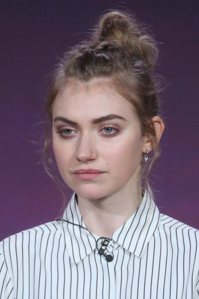 Imogen Poots Hair Knot [roadies,hair,face,hairstyle,eyebrow,chin,forehead,blond,beauty,lip,fashion,imogen poots,portion,langham huntington hotel,pasadena,california,winter tca,cbs,showtimetelevision group,panel discussion]