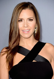 Monique Lhuillier wore her hair down with a side part and feathery ends during the InStyle Awards.