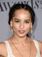 Zoe Kravitz styled her long locks into a multi-braid ponytail for the InStyle Awards.