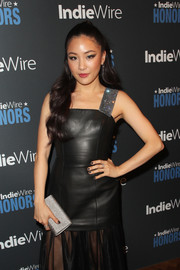 Constance Wu matched her mani to her black leather dress when she attended the 2018 IndieWire Honors.