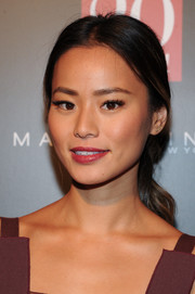 Jamie Chung attended the InStyle 20th anniversary party wearing a romantic loose ponytail.