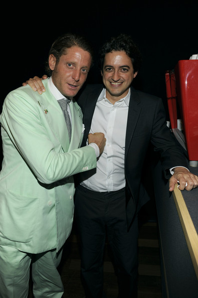 Lapo Elkann was out of the ordinary, as always, in a mint-green double-breasted suit at the International Herald Tribune's Luxury Business Conference.