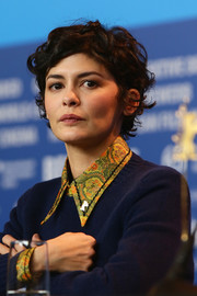 Audrey Tautou looked adorable with her short curls at the Berlinale International Jury press conference.