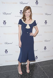Carrie MacLemore looked sweet in this retro sailor-inspired number at the 'Intouchables' screening.