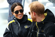 Meghan Markle looked sporty in her Krewe sunglasses at the Invictus Games Sydney 2018.