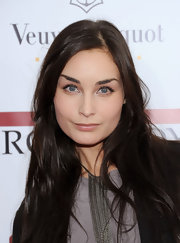 Sophie Auster wore minimal makeup and long feathery lashes at the NYC premiere of 'The Iron Lady.'