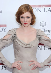 Coco Rocha wore her coppery tresses in a romantic bobby-pinned updo at the NYC premiere of 'The Iron Lady.'