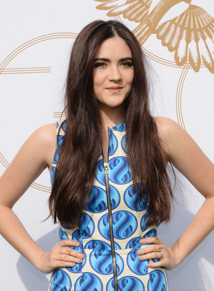 Isabelle Fuhrman Long Center Part [hair,clothing,blue,hairstyle,long hair,beauty,photo shoot,fashion model,neck,fashion,michelle dockery,isabelle fuhrman,lovegold,gold,la,chateau marmont,california,glamour,celebration]