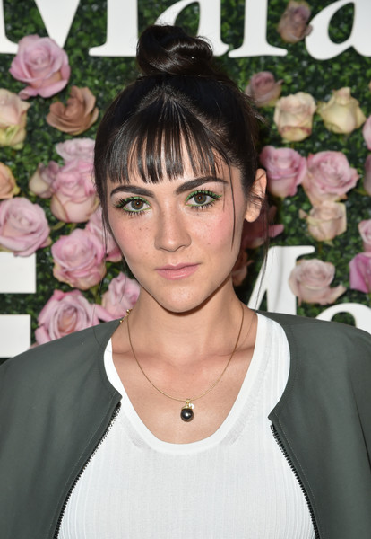 Isabelle Fuhrman Hair Knot [max mara celebrates zoey deutch,the 2017 women in film max mara face of the future,isabelle fuhrman,hair,hairstyle,eyebrow,bangs,black hair,bob cut,pixie cut,eyelash,chateau marmont,california,los angeles,max mara]