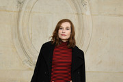 Isabelle Huppert Pea Coat