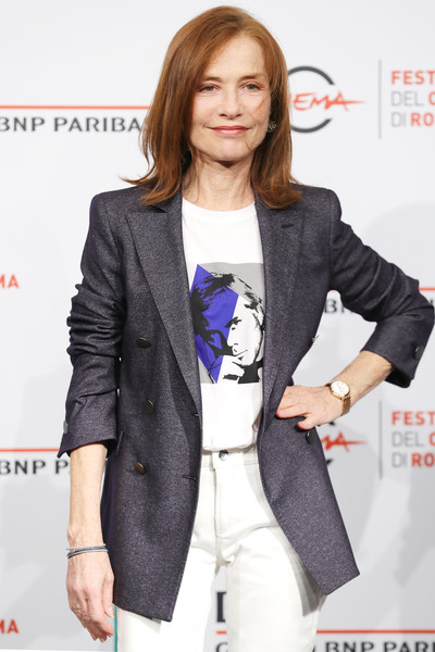 More Pics of Isabelle Huppert Blazer (5 of 18) - Outerwear Lookbook - StyleBistro [clothing,outerwear,blazer,suit,fashion,jacket,formal wear,long hair,fashion design,fashion model,isabelle huppert photocall - 13th rome film fest,isabelle huppert,photocall,rome,italy,auditorium parco della musica,rome film fest]