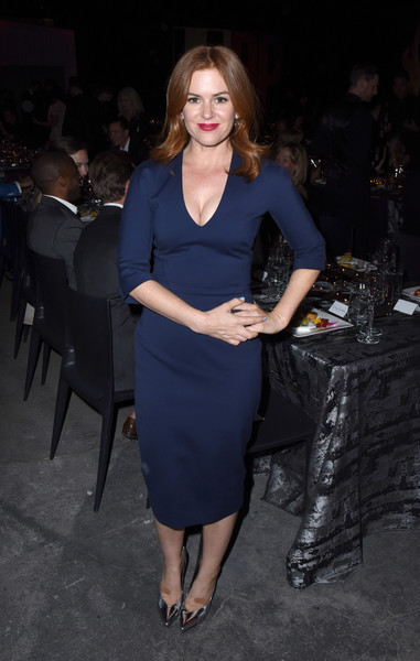 Isla Fisher Form-Fitting Dress