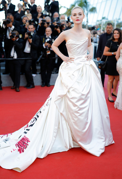 Elle Fanning in Vivienne Westwood Couture at the Cannes Film Festival