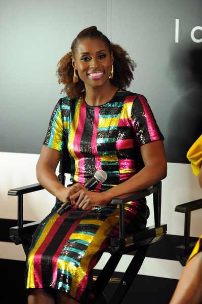 Issa Rae Sequin Dress [yellow,fashion,fashion design,sitting,performance,musician,photography,t-shirt,photo shoot,dress,fast company innovation festival - issa rae,issa rae,ukonwa ojo,ukonwa ojo on the business of beauty and transformation from the inside out,the business of beauty and transformation from the inside out,new york city,covergirl]