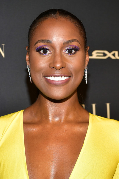 Issa Rae Croydon Facelift [hair,face,hairstyle,eyebrow,lip,beauty,chin,nose,forehead,cheek,lexus - arrivals,26th annual women in hollywood celebration,ralph lauren,issa rae,los angeles,beverly hills,california,the four seasons hotel,elle,lexus]
