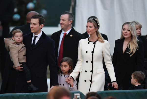 Ivanka Trump Wool Coat [president,mrs,trump attend national christmas tree lighting ceremony,senior advisor,donald trump,ivanka trump,jared kushner,children,2l,event,uniform,ceremony,performance,arrival]