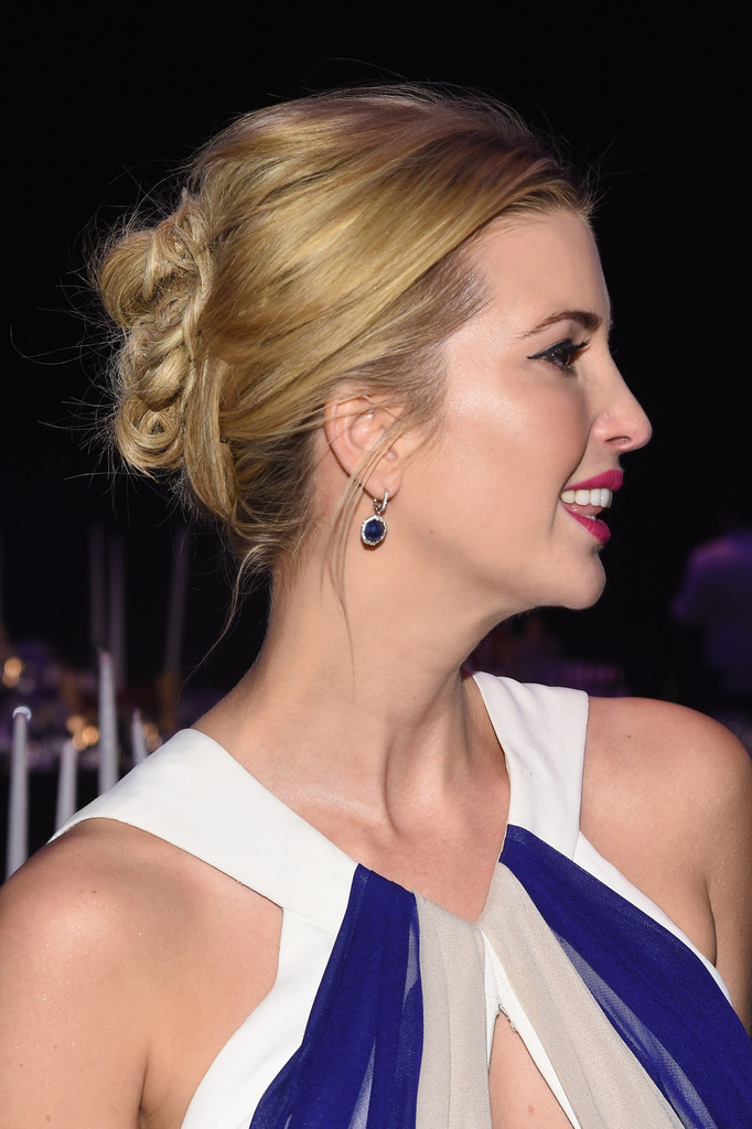 Ivanka Trump Messy Updo Hair Lookbook