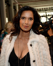 Padma Lakshmi looked lovely wearing this curly 'do at the J. Mendel fashion show.