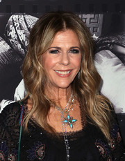 Rita Wilson wore her hair in a long wavy style when she attended JONI 75: A Birthday Celebration.