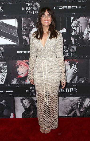 Mandy Moore was hippie-glam in a crocheted maxi dress by Proenza Schouler at JONI 75: A Birthday Celebration.