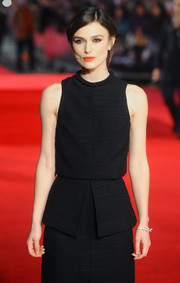 Keira Knightley paired a Chanel bow bracelet with a Proenza Schouler LBD for a simple yet elegant look during the 'Jack Ryan: Shadow Recruit' premiere.
