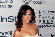 Jacqueline MacInnes Wood Strapless Dress