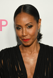 Jada Pinkett Smith opted for a simple center-parted ponytail when she attended the Atlanta screening of 'Girls Trip.'