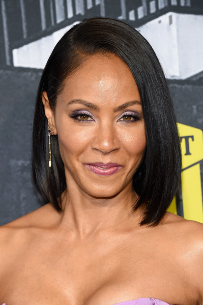 Jada Pinkett Smith Asymmetrical Cut [hair,eyebrow,beauty,human hair color,hairstyle,chin,black hair,long hair,forehead,lip,arrivals,jada pinkett smith,nashville,tennessee,music city center,cmt music awards]