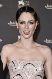Coco Rocha wore her hair in a wet-look finger wave at the Jaeger-LeCoultre gala dinner during the Venice Film Festival.