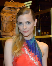 Jaime King wore a sleek long side-parted 'do to the MCM Las Vegas store opening