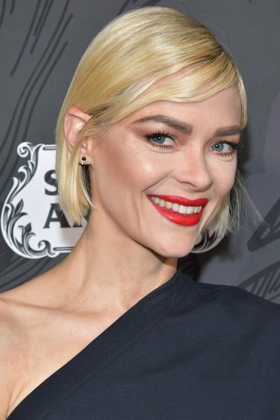 Jaime King Bob [hair,face,blond,hairstyle,eyebrow,lip,chin,shoulder,beauty,skin,jaime king,arrivals,beverly hills,california,spring place,12th annual women in film oscar party]