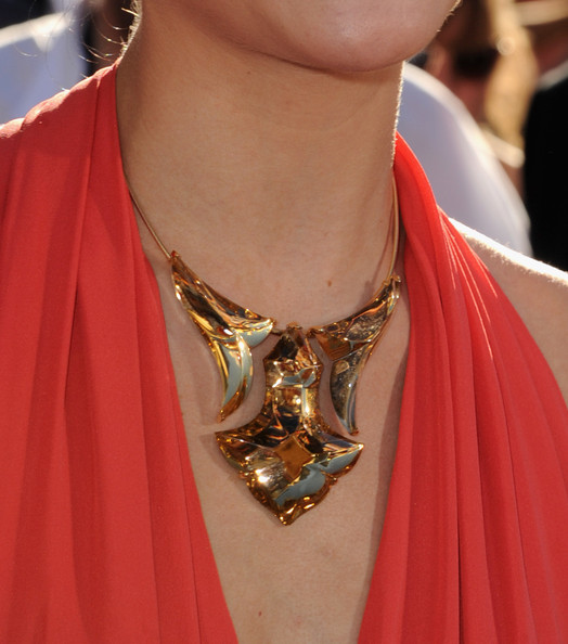 Jaimie Alexander Gold Statement Necklace