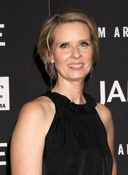 Cynthia Nixon stuck to her signature short style when she attended the New York premiere of 'James White.'