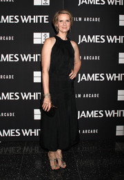 Cynthia Nixon slipped into a classic sleeveless LBD for the New York premiere of 'James White.'