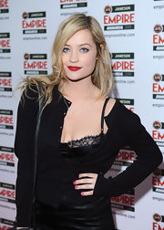Laura Whitmore's kissers totally popped with a swipe of rich red lipstick during the Jameson Empire Awards.