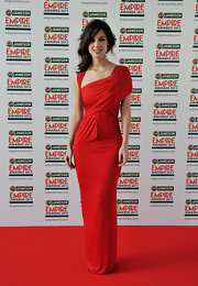 Berenice Marlohe looked ravishing in red in this draped knit gown at the Jameson Empire Awards.