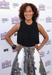 Tracee Ellis Ross arrived at the 2012 Independent Spirit Awards wearing a strong scarlet nail polish.