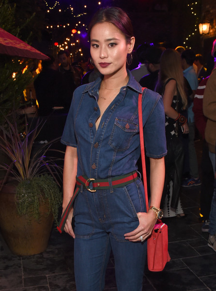 Jamie Chung Suede Shoulder Bag