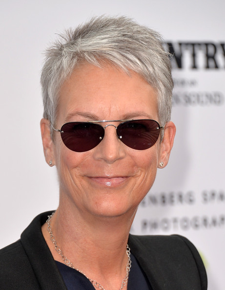 Jamie Lee Curtis Pixie [country: portraits of an american sound,portraits,eyewear,hair,sunglasses,face,glasses,hairstyle,eyebrow,chin,lip,blond,arrivals,jamie lee curtis,annenberg space for photography,american sound,california,century city,annenberg space for photography opening celebration for country,annenberg space for photography exhibit]