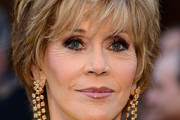 Jane Fonda Diamond Chandelier Earrings