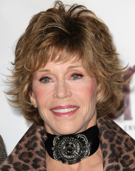 Jane Fonda Layered Razor Cut [hair,face,hairstyle,eyebrow,blond,chin,brown hair,lip,layered hair,bangs,arrivals,jane fonda,environmental media association awards,enviornmental media association awards,burbank,california,warner brothers studios]