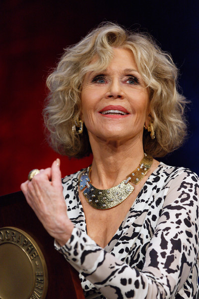 Jane Fonda Gold Statement Necklace