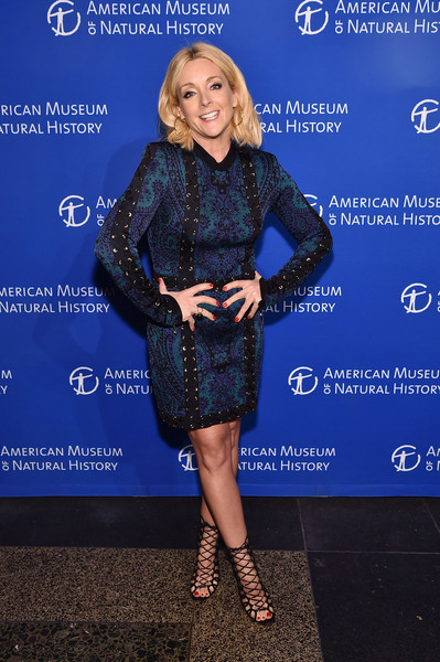 Jane Krakowski Lace-Up Heels [clothing,electric blue,cobalt blue,dress,fashion,cocktail dress,footwear,premiere,leather,carpet,american museum of natural history museum gala,american museum of natural history museum gala,american museum of natural history,new york city,jane krakowski]