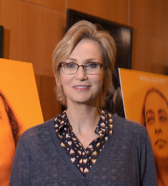 Jane Lynch Short Side Part [awake - the life of yogananda,of counterpoint films,eyewear,glasses,vision care,official,red carpet,jane lynch,los angeles,california,directors guild of america,premiere,premiere]