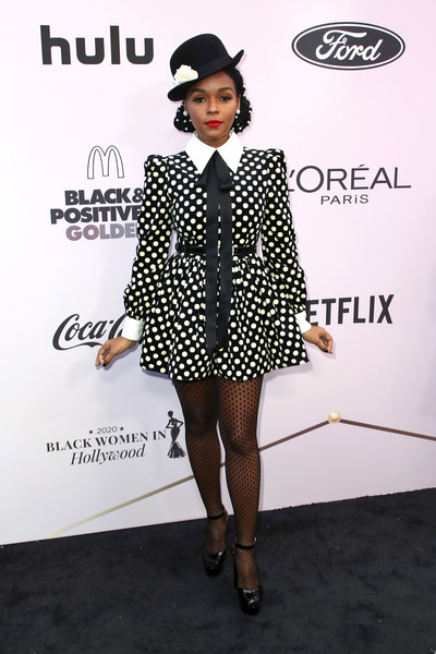 Janelle Monae Print Dress [clothing,fashion,black-and-white,formal wear,dress,footwear,outerwear,eyewear,pattern,suit,janelle monae,beverly hills,california,beverly wilshire four seasons hotel,essence black women in hollywood awards luncheon,janelle mon\u00e1e,naacp image awards,met gala,red carpet,celebrity,photograph,bet awards,actor,fashion,photography]