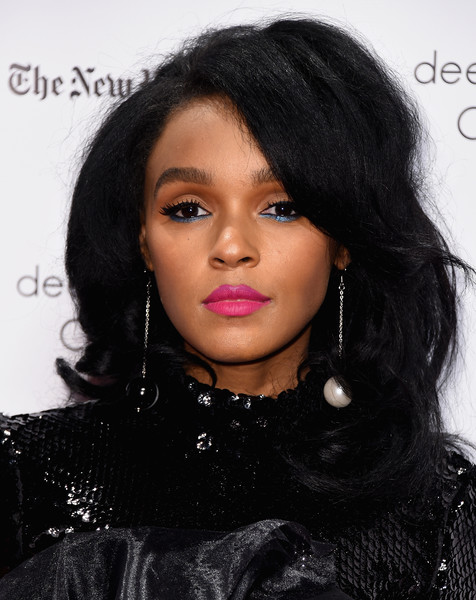Janelle Monae Teased [hair,black hair,hairstyle,face,lip,eyebrow,long hair,beauty,chin,cheek,new york city,cipriani wall street,gotham independent film awards,janelle monae]