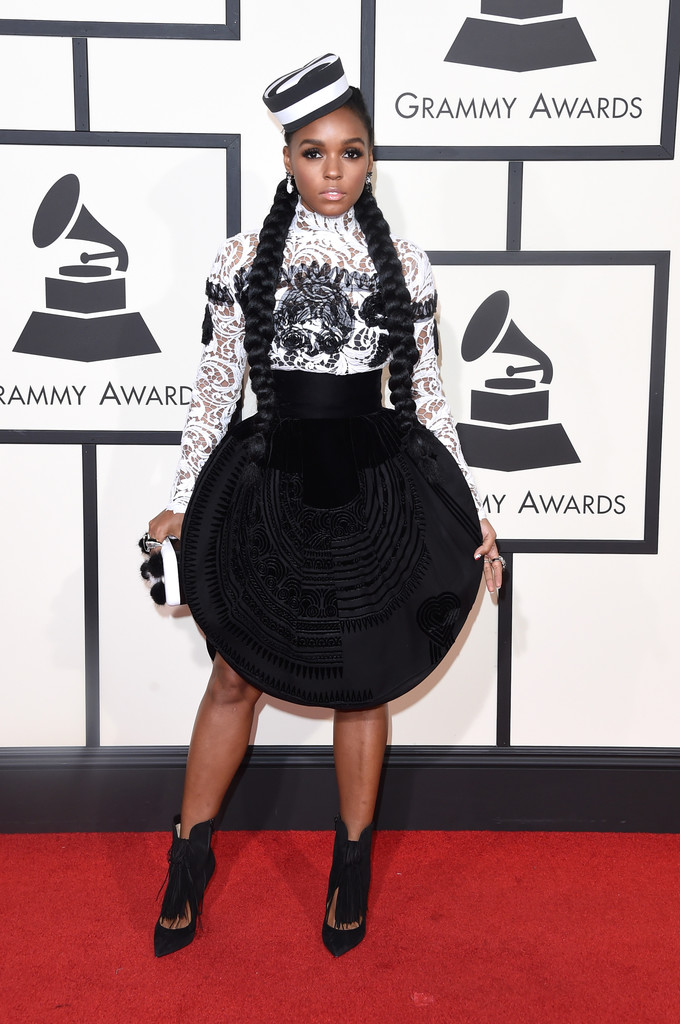 Janelle Monae Black And White Outfits
