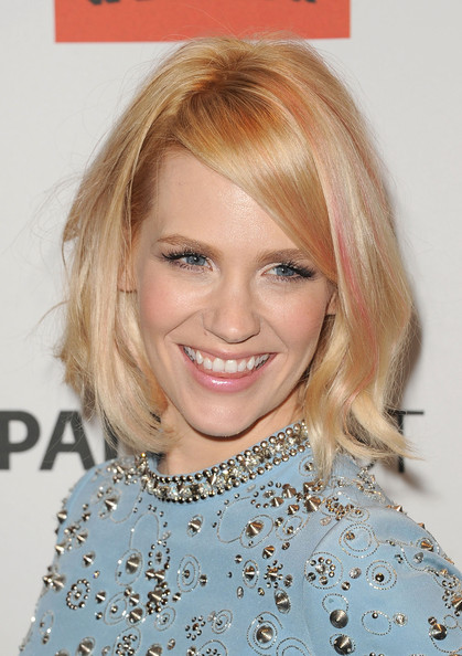 January Jones Mid-Length Bob